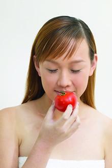 水果与模特