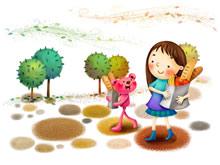 卡通童年设计绘画壁纸