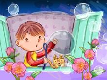 快乐童年插图高清晰壁纸