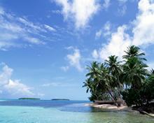 蓝天碧海沙滩高清壁纸