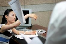 办公室的男女图库